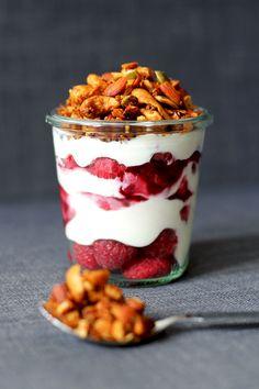 Breakfast yoghurt pots with paleo granola   Cake Whisky