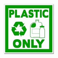 """rd030-04 - Recycling Decal 4"""" Square, Recycling Stickers, Butt-cut Recycling Labels, Vinyl Recycling Decals, Vinyl Recycling Labels, Vinyl Recycling Stickers"""