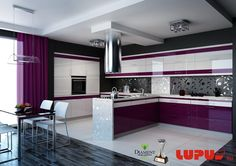 kuchnia meble nowoczesne - Szukaj w Google Red Kitchen Decor, Interior Design Kitchen, Plastic Wall Panels, Pooja Room Design, Pooja Rooms, Best Kitchen Designs, Red Interiors, Cool Kitchens, Kitchen Cabinets