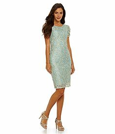 JS Collections SequinLace Shift Dress #Dillards