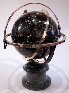 Antique Astrological Globe Marble and Bronze