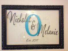 Another name frame! DIY from Melzie's blog Beauty From Pain: Customized Name Decal in a Floating Frame