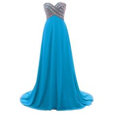 Amazon.com: Endofjune Sweetheart Evening Dress Strapless Beaded... ($100) ❤ liked on Polyvore featuring dresses, cocktail prom dress, blue strapless dress, beaded cocktail dress, beaded prom dresses and long prom dresses