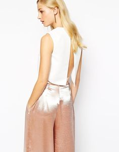 The Best Open Back Tops For Spring - Solace London Ciri Open Back Top in Textured Waffle, $109; at ASOS
