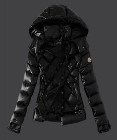 Moncler Fashion Leisure Womens Down Jackets Black