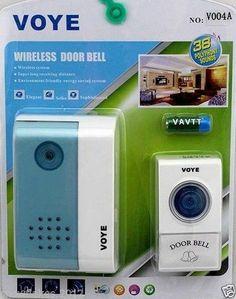 38 Tunes Remote Control Digital LED Wireless Door Bell Doorbell Button