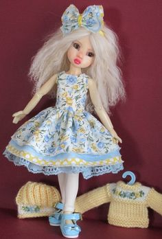 "Kaye Wiggs Tillie 11"" Dolls Handmade Outfits"