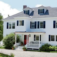 The red door on this Penobscot Bay house ups its curb appeal coastalliving.com