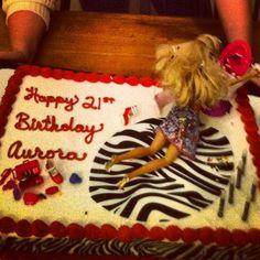 My kickass puking Barbie cake. 21st!!