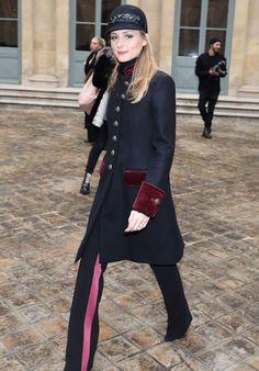 Olivia Palermo - Leaving Alexis Mabille Fall Winter 2017 Show in Paris 1/24/ 2017