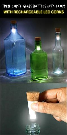 Turn Old Bottles into Lamps With These Cool Rechargeable LED Corks