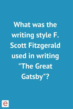 the sophisticated use of symbolism in the great gatsby by f scott fitzgerald Great gatsby essays - symbols and symbolism in f scott fitzgerald's the great gatsby.