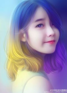 宋琪 Coco 2ne1, Arte Digital, Korean Art, Asian Art, Anime Art Girl, Manga Girl, Anime Girls, Hair Art, Chòm Sao