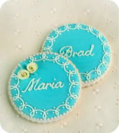 Place Setting cookies for Wedding Bells Magazine by Sweetopia. Step by step instructions... =]