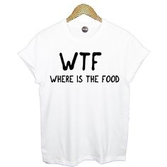 WTF wheres the food t shirt top retro hipster swag dope yolo vtg punk... ($17) ❤ liked on Polyvore featuring tops, t-shirts, shirts, blusas, hipster t shirts, white tee, checked shirt, t shirts and tee-shirt