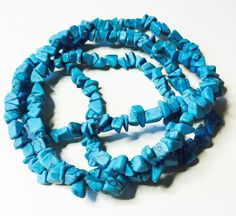 BLUE TURQUOISE BEAD Chips by CoseBelleByMaria on Etsy