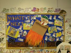Whatever Next Display, classroom display, class display, Story, nursery rhyme, reading, journey, hedgehog, Early Years (EYFS), KS1 & KS2 Primary Resources