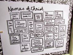 A Lively Hope: Hand-Lettered Names of Christ Advent {free printable} Could do this as a station with bulletin board and construction paper Advent Prayers, Prayer Stations, Apostles Creed, Church Bulletin Boards, Names Of God, Jesus Names, Scripture Study, Children's Bible, Kids Church