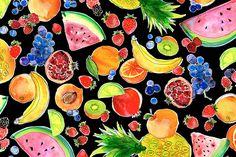 Magrikie : Illustration  : fruit fun / summer