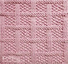 Lattice with seed stitch - Square knitting pattern | Knit and Purl combinations