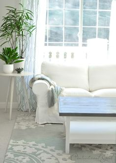Weathered Gray Coffee Table  A DIY Ikea Hack