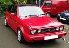 1987 VOLKSWAGEN GOLF CLIPPER CABRIO RED GTI ICONIC CLASSIC 72K UNTOUCHED - http://www.vwgticarsforsale.com/1987-volkswagen-golf-clipper-cabrio-red-gti-iconic-classic-72k-untouched/