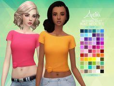 Aveira Sims 4: Backyard Stuff Boat Neck Tee • Sims 4 Downloads
