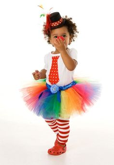 Cute Clown Costume with Tutu!