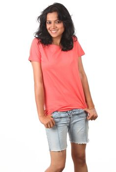 Fall in Love with Pleasing Coral. Explore at www.indophile.in #fashion #India #organiccotton #coral