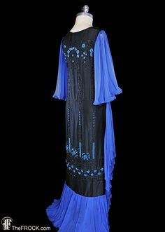1920s gown flapper era beaded art deco dress by TheFrockDotCom
