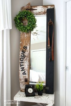 Turn a Ho-hum Mirror Into a Smash Junk Hit With Scrap Wood!