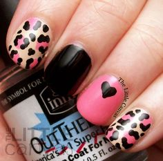 The Little Canvas: Twinsie Tuesday: Anti Valentine's Day Manicure - Maybe?