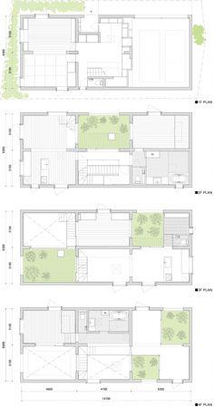 House K/ Japan/ Floor Plan Japan Architecture, Architecture Portfolio, Architecture Design, Drawing Architecture, The Plan, How To Plan, Modern Floor Plans, House Floor Plans, Haus Am Hang