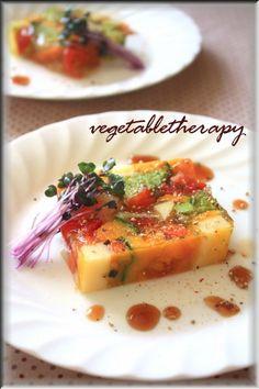 野菜ゼリーよせ Michelin Star Food, Cheese Bar, Edible Favors, Culinary Arts, Food Presentation, Food Plating, Japanese Food, Dessert, Food Photo
