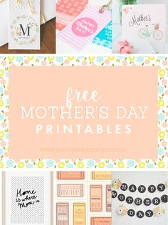 Favorite FREE Mother's Day Printables