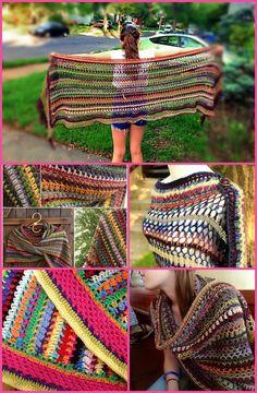 100 Free Crochet Shawl Patterns - Free Crochet Patterns - Page 18 of 19 - DIY & Crafts