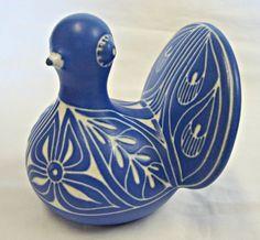 Vintage Blue & White Dove BIRD Pottery by ShiningStarTreasures, $30.00