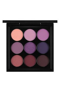 Free shipping and returns on MAC 'Purple Times Nine' Eyeshadow Palette at Nordstrom.com. A well-edited pocket-sized eyeshadow palette features a color wave of petite purple hues that offers countless shade combinations. An array of textures, ranging from matte to satin to frost, lets you create a variety of looks for both day and night. Saturated, soft and smooth, all nine hues are packaged in one sleek compact for easy portability.Shades include:- Sweet Lust- Poignant- Mancatcher- After…