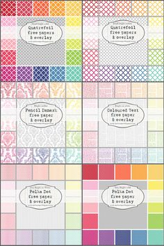 multiple PREVIEW bright papers mel stampz by melstampz, via Flickr