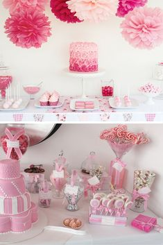 Baby shower girl: Ideas from princess buffets! – # Baby shower girl buffets - New Deko Sites Shower Party, Baby Shower Parties, Baby Shower Themes, Baby Shower Decorations, Bridal Shower, Shower Ideas, Table Decorations, Baby Shower Cakes, Baby Shower Buffet