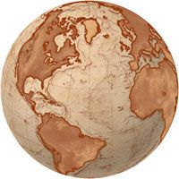 I want to get a globe tattoo. Not this style, but from this angle.