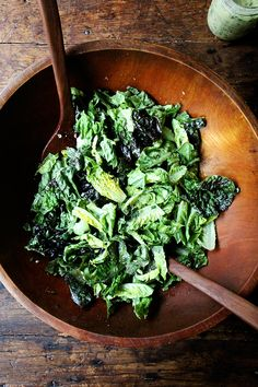 little gems and other greens with green goddess dressing