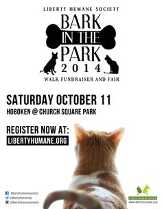 Have you signed up yet for Bark in the Park? WHAT ARE YOU WAITING FOR?! So many ways to help and to donate to your favorite shelter puppies and kitties!! Click here for more info on the Hoboken event Satuurday October 11th!
