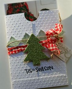 Photo card holder for Christmas cards