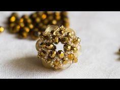 """DIY: Beaded bracelet """"Periwinkle"""" / Мастер класс """"Барвинок"""" - Стильный браслет из бисера и бусин - YouTube"""