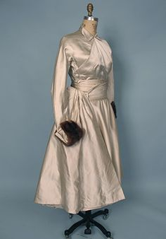 1950s Christian Dior Silver Satin Dress by Sacheverelle, via Flickr