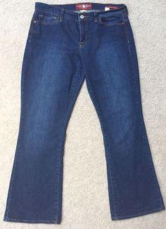 Lucky Brand Women's Sofia Boot Ankle Medium Wash Denim Jeans Size 12 or 31 | eBay