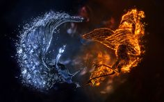 Fire And Ice Wallpapers Abstract 3d wallpaper f... fire and ice