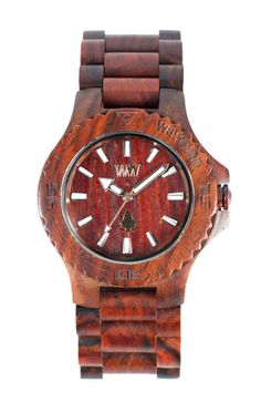 For my husband.  A wood watch.  So cool.