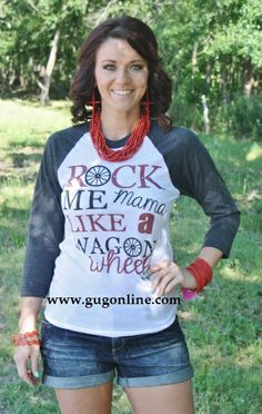 Rock Me Mama Baseball Tee  $36.95  www.gugonline.com